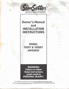 78 Sunsetter Awning Parts List