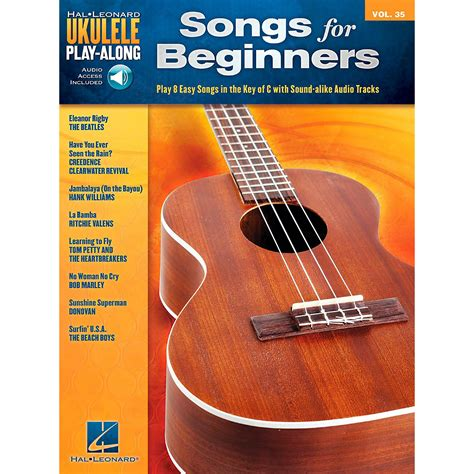A diverse collection of ukulele tabs featuring unique arrangements you won't find anywhere else. Hal Leonard Songs for Beginners - Ukulele Play-Along Volume 35 Book/Audio Online   Musician's Friend