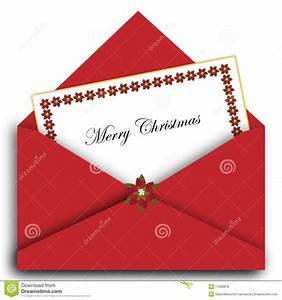 christmas letter with envelope stock vector image 17068878 With christmas letter envelopes