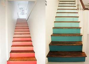 Escalier Contremarche Peinte Maison Design Bahbe