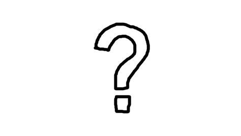 Stock Video Clip Of Animated Character Question Mark With