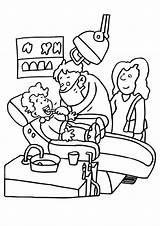 Coloring Dentist Dental Health Sheets Teeth Care Hygiene Oral Edupics Healthy sketch template