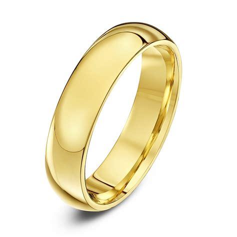 wedding ring shape 9ct yellow gold extra heavy weight court shape 5mm wedding