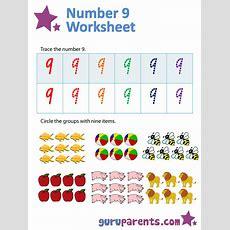 Number 9 Worksheets Guruparents