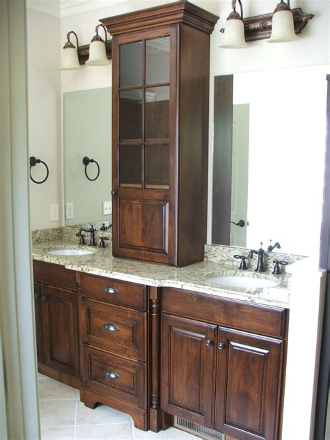 Bathroom Sink Cabinets by Built In Cabinet In The Bathroom Dixon Custom Cabinetry
