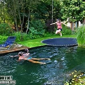 In Ground Trampolin : wish in ground trampoline by pool too creative pinterest pools in ground trampoline ~ Orissabook.com Haus und Dekorationen