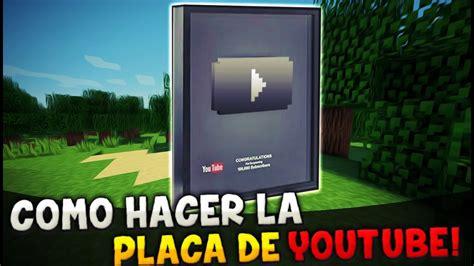 Ru Tub by Minecraft Como Hacer La Placa De Por 100k 1m Y