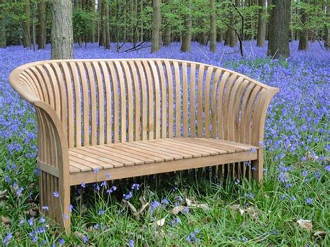 chesterton sustainable teak curved  bench love seat