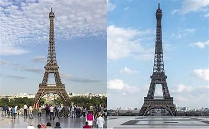 Paris Vor Corona Nach Eiffelturm Vorher Nachher
