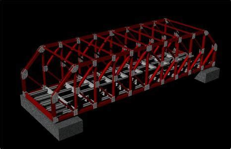 steel structure  truss bridge  dwg model