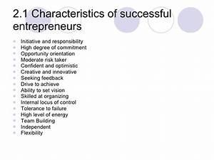 Topic 2 Identifying Entrepreneurial Characteristics