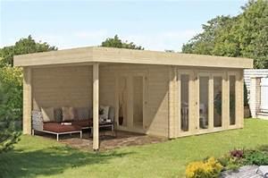 Chalet Bois Toit Plat : abri bois toit plat chalet corsaro 12 m paisseur 44mm ~ Melissatoandfro.com Idées de Décoration