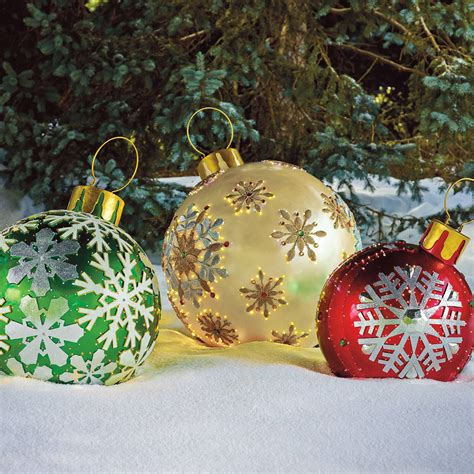 outdoor lighted christmas ornaments massive fiber optic led outdoor christmas ornaments the