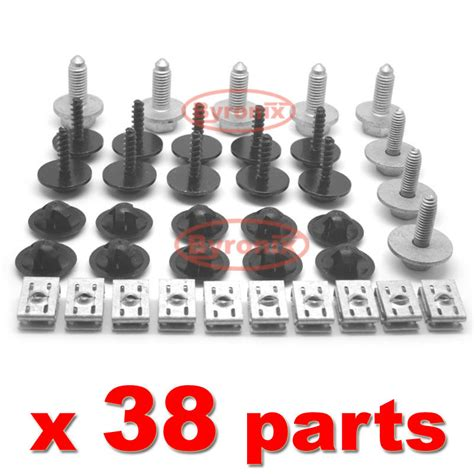 audi  undertray clips engine  cover bottom