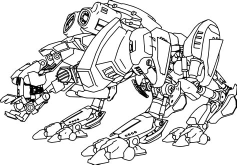 Advanced Robot Coloring Page