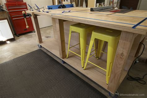 remodelaholic table  workbench building plans
