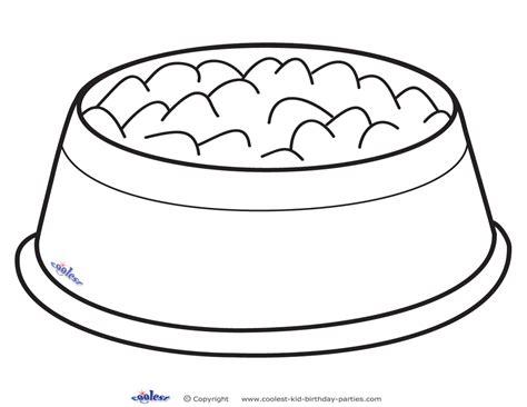 Black and white dog bowl clipart