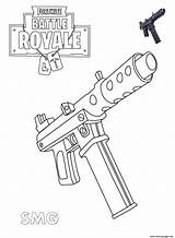 Fortnite Coloring Printable Pistol Machine Colouring Sheets Guns Weapons Weapon Drawing Colour Boys Scar Cartoon Drawings Fox Dessin Prints Adults sketch template