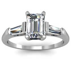 tapered baguette engagement ring emerald cut tapered baguette engagement ring engagement rings review