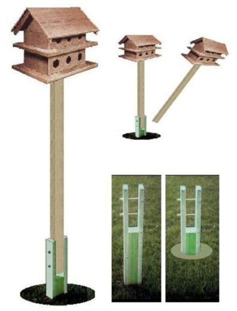 pressure treated ground socket for purple martin bird