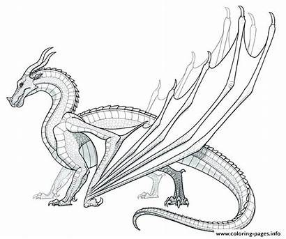 Dragon Coloring Pages Dragons Printable Realistic Drawing