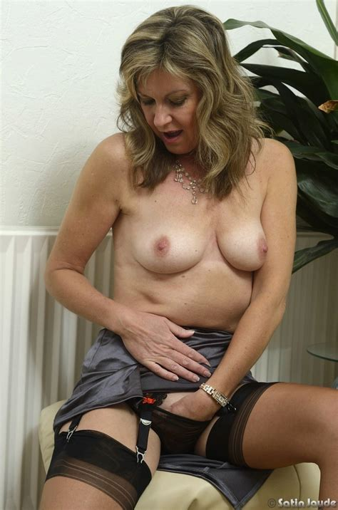 Sexy Milf Satin Blouse And Nylons Stockings Diary
