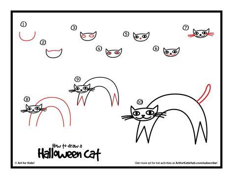 draw  halloween cat art pinterest halloween cat