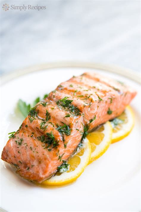 grilled salmon recipe grilled salmon with dill butter recipe simplyrecipes com