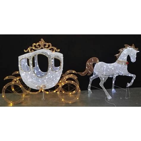 home accents holiday   led warm white carriage
