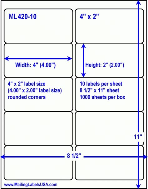 nutrition labels template template business