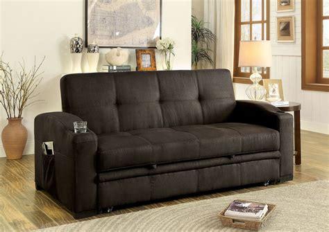 mavis dark brown futon sofa  furniture  america