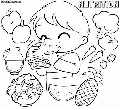 Coloring Nutrition Pages Healthy Habits Sheets Sheet