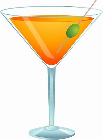 Cocktail Clipart Martini Clip Transparent Glass Glasses