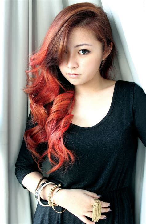 omber colorhighlighting hairhair color hair red