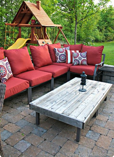 You can put the coffee table on the terrace or patio. DIY Patio Table - 15 Easy Ways to Make Your Own - Bob Vila