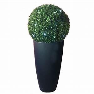 Boule De Buis : boule de buis artificielle lumineuse diam 45 cm petites ~ Melissatoandfro.com Idées de Décoration