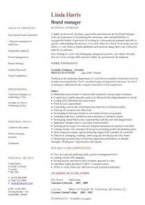 Resume Templates For Project Managers Brand Manager Cv Sle Developing Plans And Executing Projects And Initiatives Resume