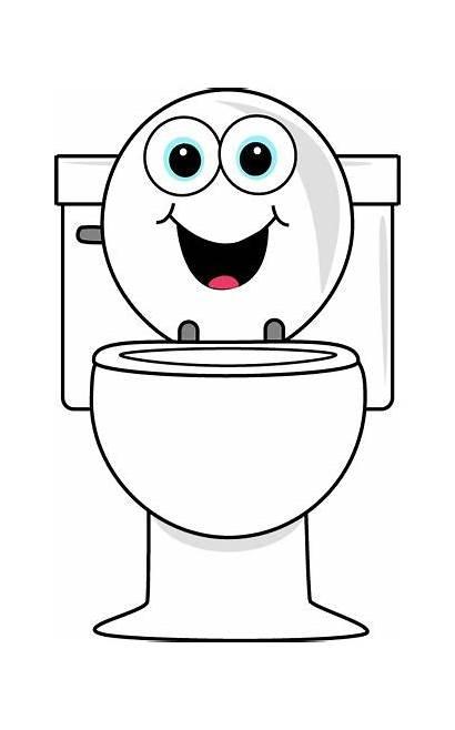 Clip Cartoon Toilets Toilet Potty Clipart Training