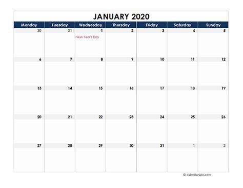 ireland calendar spreadsheet template
