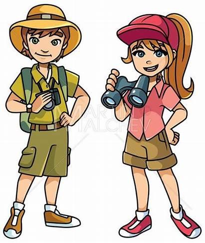 Adventure Illustration Cartoon Vector Kid Boy Exploring