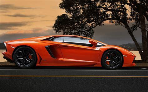 Car Wallpaper Orang by Lamborghini Aventador Lp700 4 Orange Supercar At Sunset