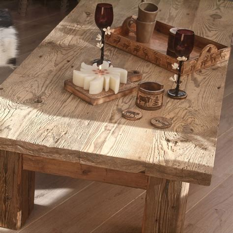 vieux bureau en bois table de salon quot madrier quot grande en vieux bois