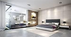 carrelage gris mural et de sol 55 idees interieur et With carrelage chambre a coucher