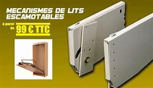 Mécanisme Lit Escamotable : mecanismes pour lits relevables ~ Voncanada.com Idées de Décoration