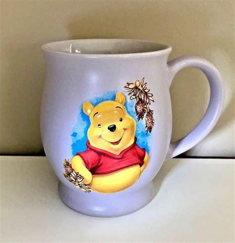Disney store winnie the pooh mug blue tigger piglet 20 oz coffee tea cup. Winnie The Pooh Bear 3D Lavender Purple Coffee Cup Mug Ceramic Disney Stores EUC #DisneyStores ...
