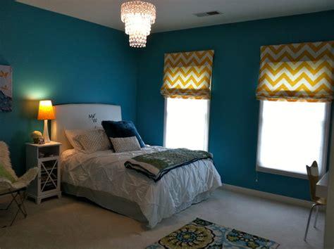 peacock blue teen room