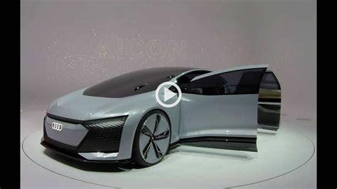 audi aicon concept car future vision show car walkaround autonomous vehicle
