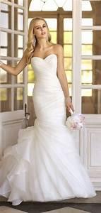 organza sweetheart trumpet lace up natural waist wedding With sweetheart trumpet wedding dress