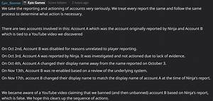 Epic Games Is Looking Into Banned Accounts Fortnite Insider