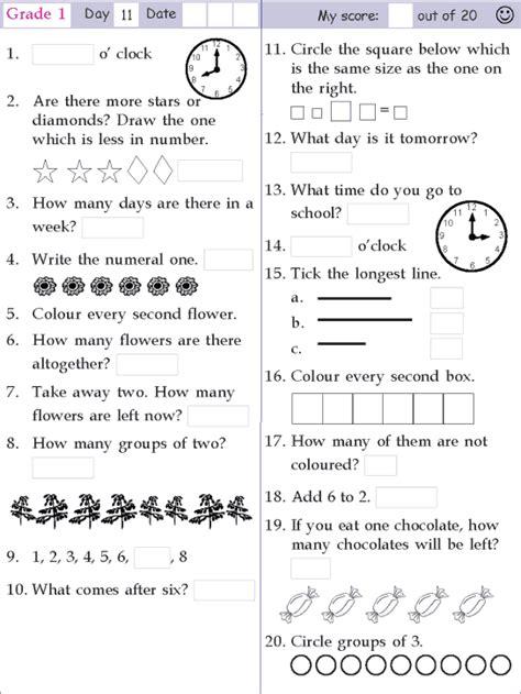 mental math grade 1 day 11 mental math 1st grade math
